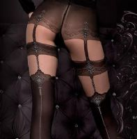 Ballerina 300 Luxury Black Seamed Tights